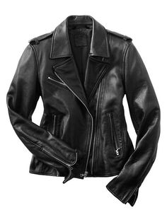 Who wouldn't want to find this Leather moto jacket from Gap under their tree?