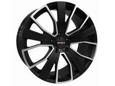 "Calibre Kensington Gloss Black and Polished 8.5x20"" VW T5"