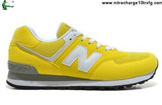 Latest Listing New Balance NB 574 Five Rings series White Golden Yellow For Men shoes Shoes Shop