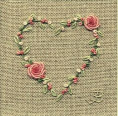 Wonderful Ribbon Embroidery Flowers by Hand Ideas. Enchanting Ribbon Embroidery Flowers by Hand Ideas. Bullion Embroidery, Embroidery Hearts, Embroidery Stitches Tutorial, Silk Ribbon Embroidery, Crewel Embroidery, Hand Embroidery Patterns, Embroidery Techniques, Machine Embroidery, Applique Patterns