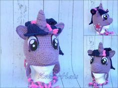 Crochet Purple horse hat. by KrazyHats1 on Etsy