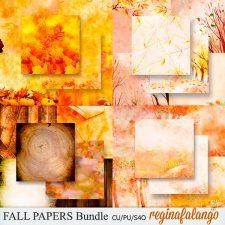 FALL PAPERS BUNDLE #CUdigitals cudigitals.com cu commercial digital scrap #digiscrap scrapbook graphics