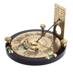 Exceedingly complex modern portable sundial with numerous corrections.  http://www.horussundials.com/images/index/as0279.jpgl