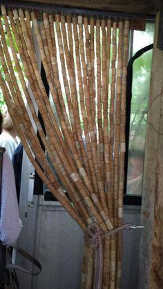 Cork curtain