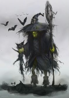 Truly a wicked looking witch by KillerBe.deviantart.com ... Halloween