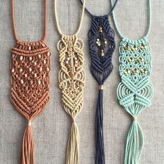 Macramé Tassel Necklaces