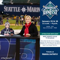 Be a #Mariners dugout reporter ROOT SPORTS' Virtual TV Broadcast. #MarinersFF