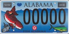 1000 images about fishy license plates on pinterest for Alabama non resident fishing license