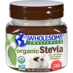 Wholesome Sweeteners Stevia - Organic - Jar - 4.2 oz - Case of 6