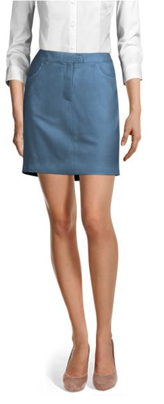 Customized by you, and made to fit your unique measurements Tailored Suits, Casual Skirts, Cotton Skirt, Suits For Women, Denim Skirt, Work Wear, Mini Skirts, Shirt Dress, Steel