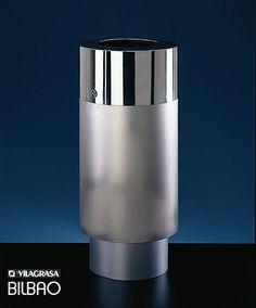 Poubelle BILBAO PP, Acier Inox, 50 litres, Design VILAGRASA