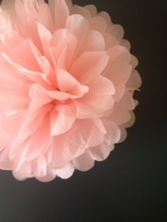1 x Tissue Paper Pompom - Rose - Wedding Pom Poms, Paper Pompom, Tissue Pompoms, Baby Shower, Nursery Decor, Party Decoration 12""
