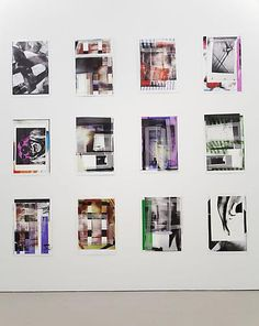 Tamar Halpern  Drawings by the Black Mascara Snake, 2012  12 Ultrachrome ink on paper  overall grid of 12: 94 x 88 inches