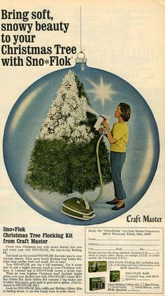 cover your christmas tree with snowy beauty this year, 1968