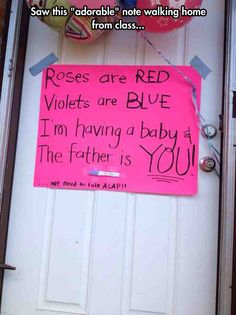 Aside from the pregnancy test being taped to the sign, this is adorable! #someday