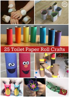 25 {Incredible} Toilet Paper Roll Crafts - Kids Activities Blog by Satu
