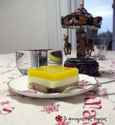 Γλυκό με φρυγανιές και γλάσο πορτοκαλάδας #sintagespareas