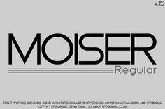 Typo Moiser v15 by Qbotype Fonts on @creativemarket