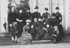 Queen Victoria photographed at Balmoral with some of her children, grandchildren and great-grandchildren, 1884