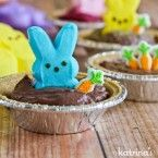 Peeps Pudding S'mores Pies Recipe- a kid-friendly Easter dessert!
