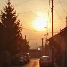 Reggeli fények  #morning #lights #sun #sunrise #street #budapest #lovethistown #instago #budafok #eszterslife