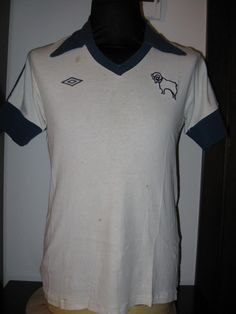 Derby County football shirt 1978 sponsored by no sponsor Derby Football, Retro Football, Football Shirts, Football Images, Derby County, Premier League, How To Look Better, Polo Ralph Lauren, Collections