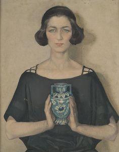 Anna Zinkeisen Portrait of Audrey, 1921. British, 1901-1976