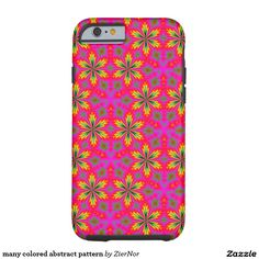 many colored abstract pattern tough iPhone 6 case