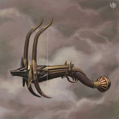 (not your typical) Warhammer art dump (including New World factions)-Part Weapons/Items/Technology Fantasy Armor, Fantasy Weapons, Medieval Fantasy, Egyptian Weapons, Medieval Weapons, Hand Crossbow, Besta, Weapon Concept Art, Yin Yang