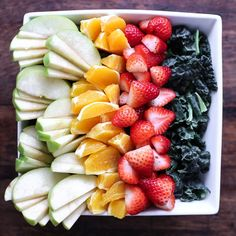 Kale Fruit Salad with Orange Vinaigrette Recipe on Yummly. @yummly #recipe