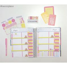 This weeks layout in my @erincondren horizontal life planner! Using the pink lemonade set from @lovelikeryn.  #erincondren #ec #lifeplanner #erincondrenlifeplanner