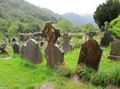 Wicklow Mountains - graves at St Kevin's. #ireland #travel