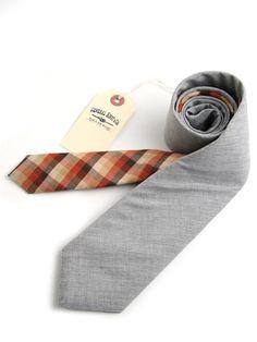 General Knot & Co - Heather Grey Shirting & 1940s Tonal Check