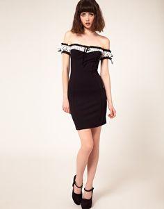 Polka dot trim dress by Wheels & Dollbaby.