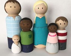 Image result for watercolor paint peg dolls