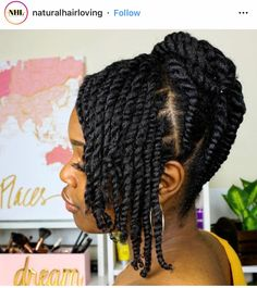 Twists doesnt always have to be unraveled! Pretty protective hairstyle w Twists doesnt always have to be unraveled! Pretty protective hairstyle w Flat Twist Hairstyles, Natural Braided Hairstyles, Protective Hairstyles For Natural Hair, Natural Hair Braids, Long Natural Hair, Black Hairstyles, Wedding Hairstyles, Black Hair Natural Styles, Natural Hair Twist Styles