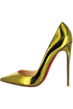 CHRISTIAN LOUBOUTIN #neon metallic #heel lust