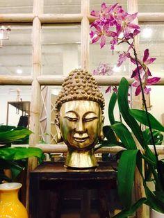 Brass head and #decor at #Chicago #Mecox #interiordesign #MecoxGardens #furniture #shopping #home #decor #design #room #designidea #vintage #antiques #garden