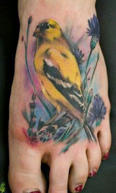 Body Art: Watercolour Tattoo... my bird