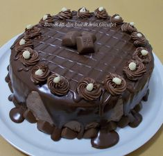 Romanian Food, Romanian Recipes, Yummy Cakes, Sweets, Candy, Cooking, Desserts, Foods, Bolo De Chocolate