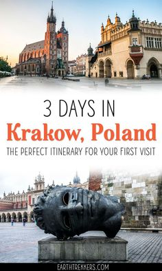 Krakow Poland Itinerary with a day trip to Auschwitz-Birkenau. #krakow #poland #travelitinerary #travelguide