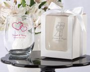 Personalized Stemless 9 oz Wine Glass (White or Kraft Gift Box Available) too cute !!! 10/2/15 can't wait..