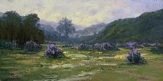 Lupine and Lace by Kim Lordier Pastel ~ 12 x 24