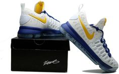 23aa853f4fa8 Nike Zoom KD 9 Mens Basketball Shoes White sapphire blue yellow Kd 9