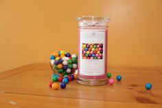 Our bubble gum scented jewelry candle! Visit me on FB @ Jewelrycandles Rep.Vicki Just Good Scents Best Candles, Soy Candles, Scented Candles, Candles With Jewelry Inside, Jewelry Candles, Fragrant Jewels Candles, Diamond Candles, Candle Rings, Candle Companies