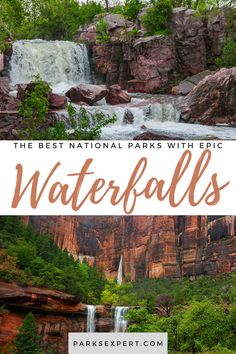 Looking to see some waterfalls on your next park trip? Check out these national park waterfalls to see amazing cascades that will take your breath away.