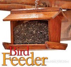 DIY Garden Bird Feeder - Outdoor Plans and Projects   WoodArchivist.com