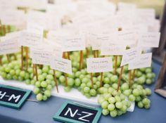 AlyssaHoffmanEvents.com - Escort Card Table - Winery Wedding