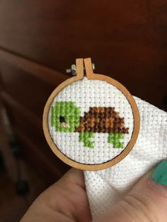 Mini Turtle Cross Stitch Pattern - PDF ONLY, You can produce really special styles for textiles with cross stitch. Cross stitch designs may nearly amaze you. Cross stitch newcomers will make the designs they need without difficulty. Tiny Cross Stitch, Cross Stitch Animals, Cross Stitch Kits, Cross Stitch Charts, Cross Stitch Designs, Cross Stitch Patterns, Kawaii Cross Stitch, Cat Cross Stitches, Cross Stitch Bookmarks