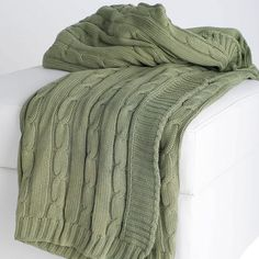 I pinned this Helga Cable Knit Throw in Sage from the Bedroom Essentials event at Joss and Main!